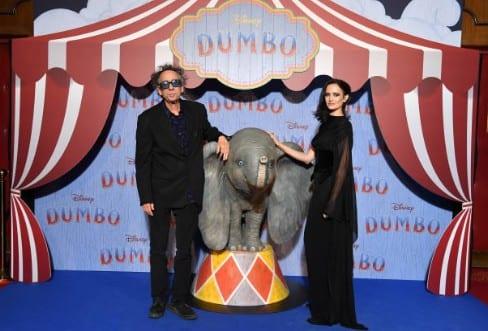 Tim Burton et Eva Green pour la sortie du film Dumbo