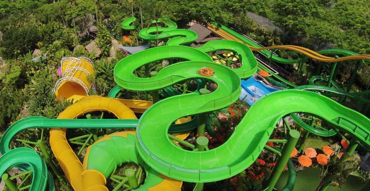 vue sur le parque aquatique Waterbom Bali