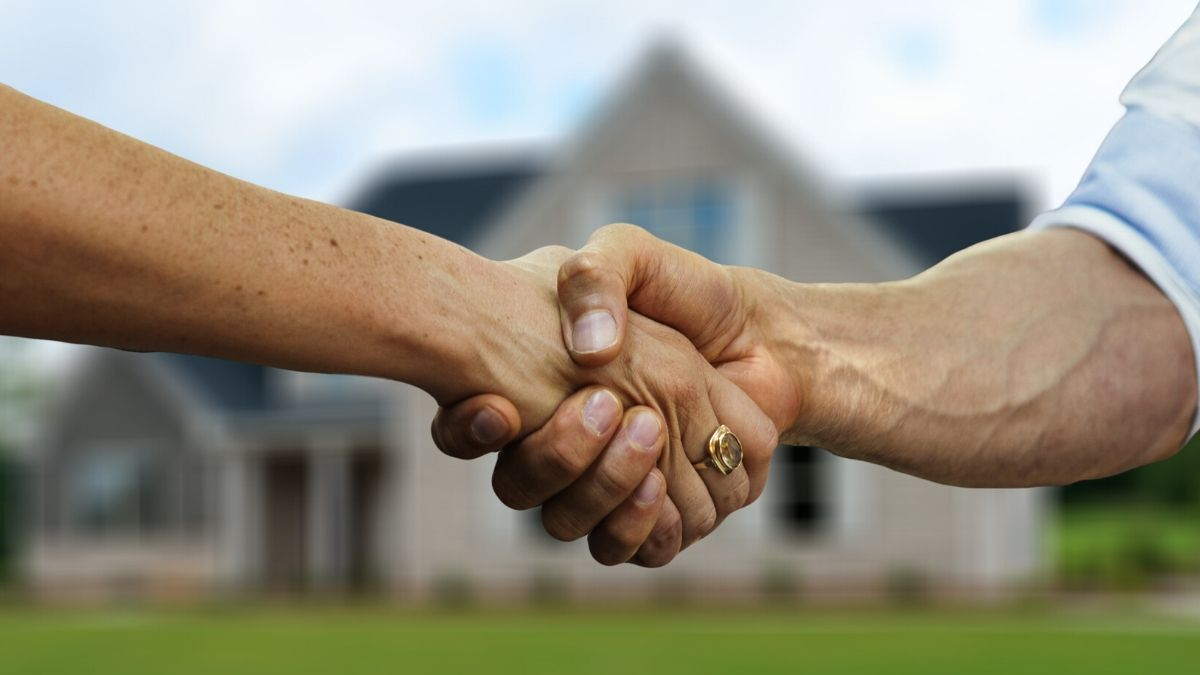 poignee de main pour vente maison