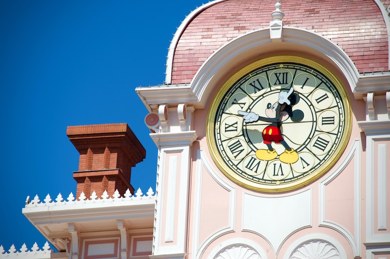 Horloge entrée disney