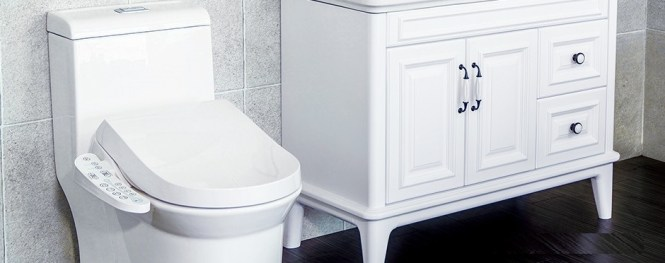 toilettes japonaises blanches