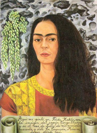 Autoportrait aux cheveux défaits, 1947. Huile sur toile, 61 cm x 45 cm. Des Moines Art Center, États-Unis.