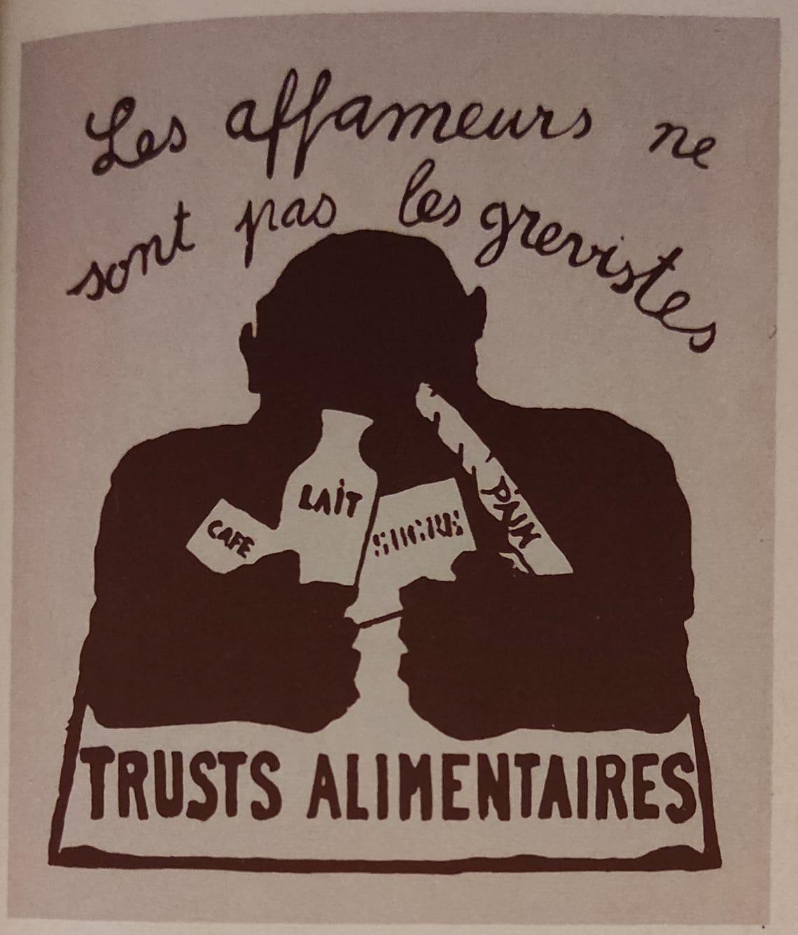 Le top 10 des affiches de mai 68 : Trusts alimentaires affameurs