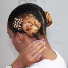 chignon, pince, cheveux
