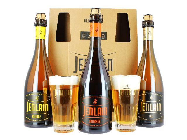Bière Blonde ambrée et or Jenlain.
