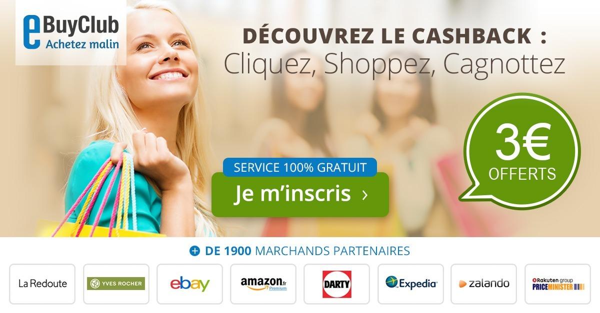 eBuyClub cashback économies