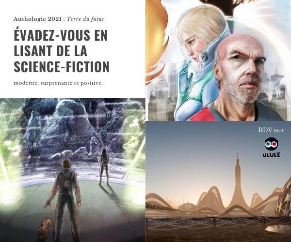 Illustrations en couleur du livre de science-fiction Terre du futur.