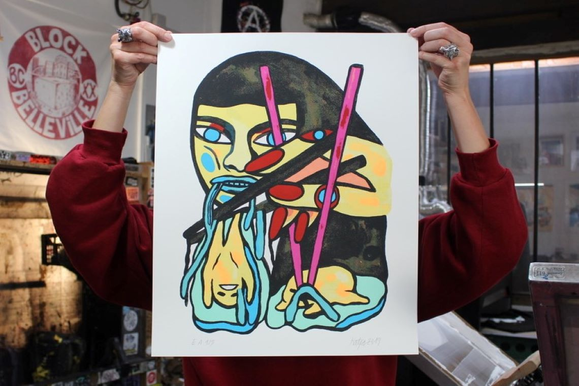 Katja : une artiste urbaine expressionniste et onirique.