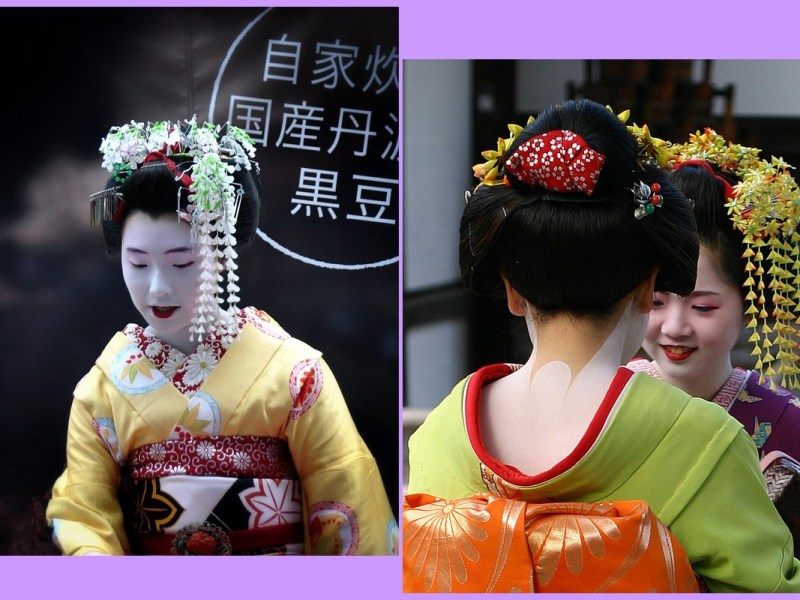 Tuto maquillage geisha - Le visage et le cou d'une geisha.