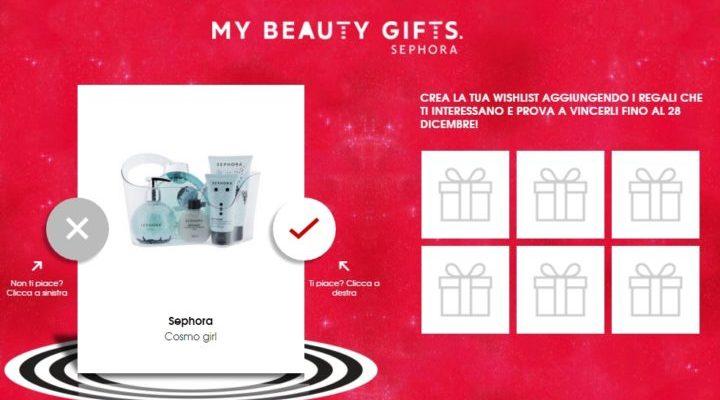 My Beauty Gifts Sephora: crea e vinci la wishlist