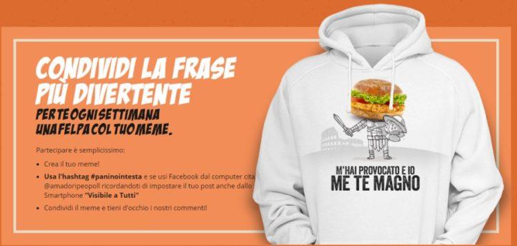 #Paninointesta – concorso Amadori: vinci una felpa personalizzata