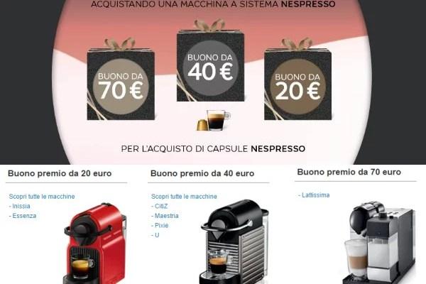 Buono acquisto capsule caffè Nespresso su Amazon