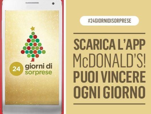 Calendario dell'Avvento McDonald's: 24 giorni di sorprese