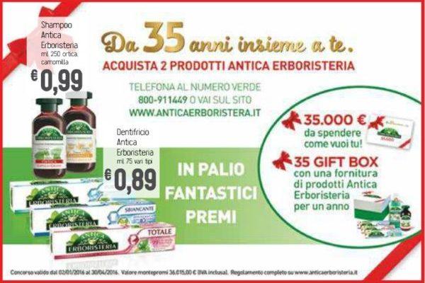"""""""Da 35 anni insieme a te"""" concorso Antica Erboristeria: gift box e un buono da 35000 euro in palio"""