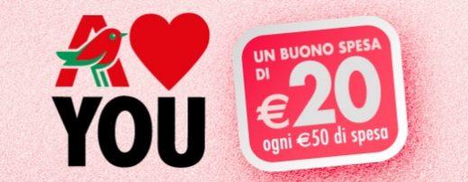 Buono spesa Auchan da 20 euro in occasione di San Valentino