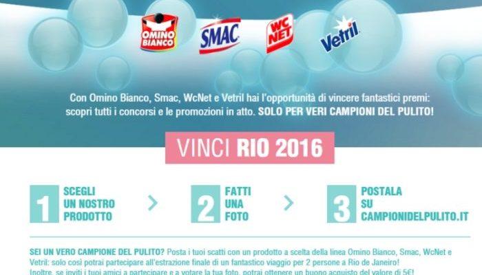 Campioni del Pulito – Vinci Rio 2016 e buoni acquisto