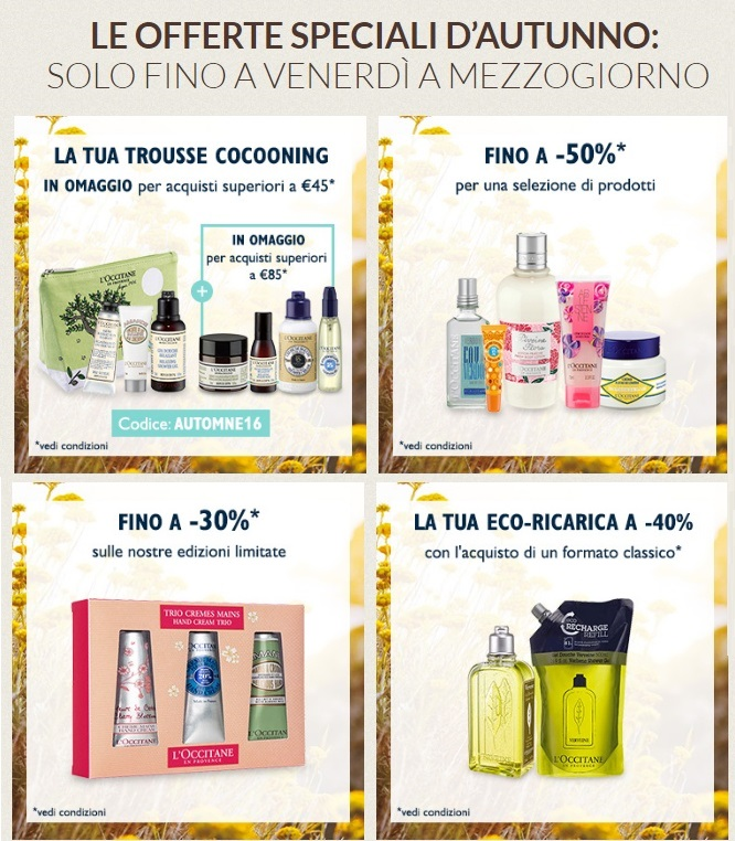 Vendite Flash L'Occitane