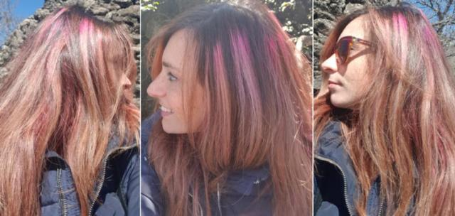 Colore capelli fucsia scarico