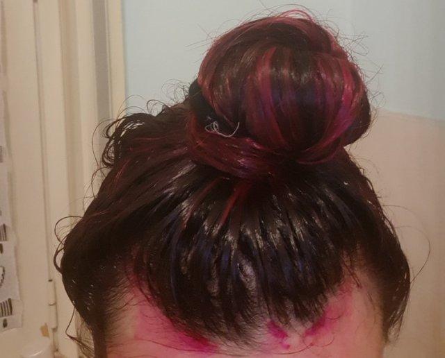 Posa maschera pigmentata per capelli