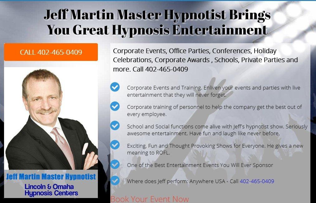 Master Hypnotist Jeff Martin