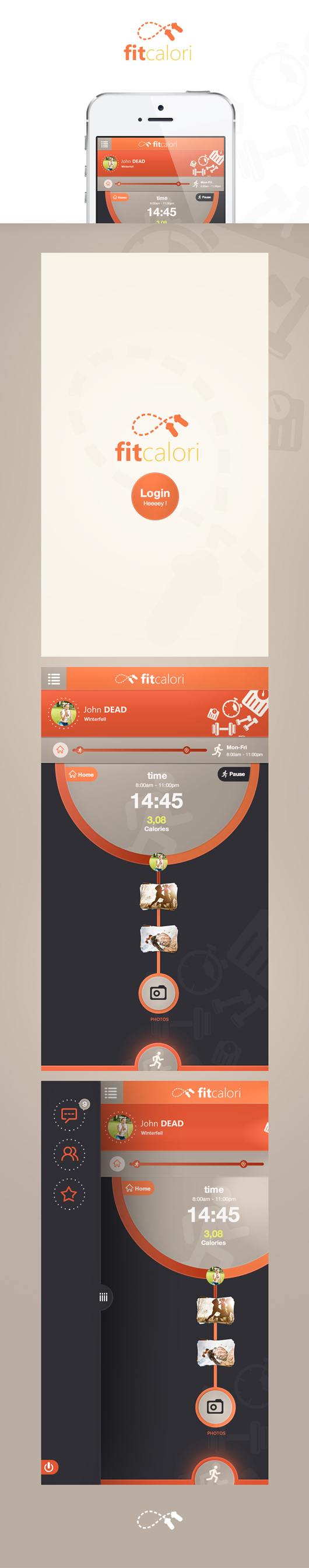 iPhone App UI Designs