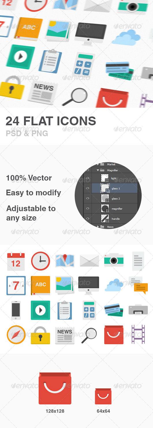 Premium Flat Icons