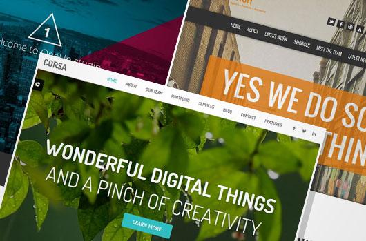Single Page WordPress Portfolio Themes