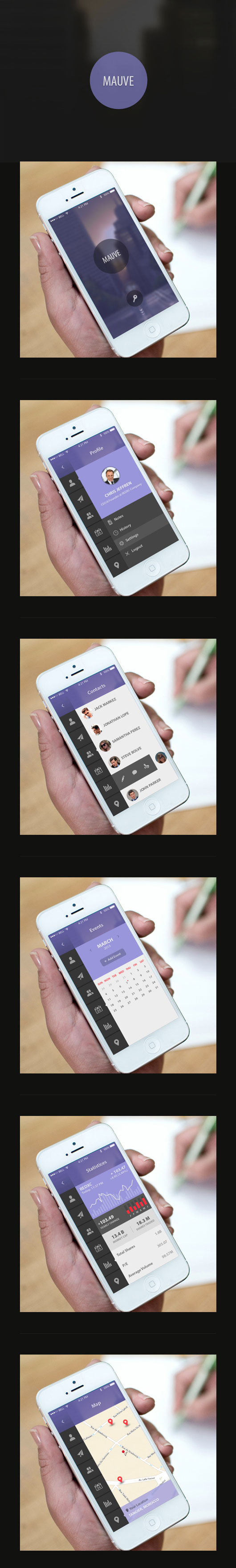 Flat Mobile UI Designs