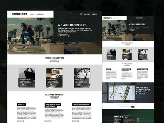 Top Free PSD Templates and Articles
