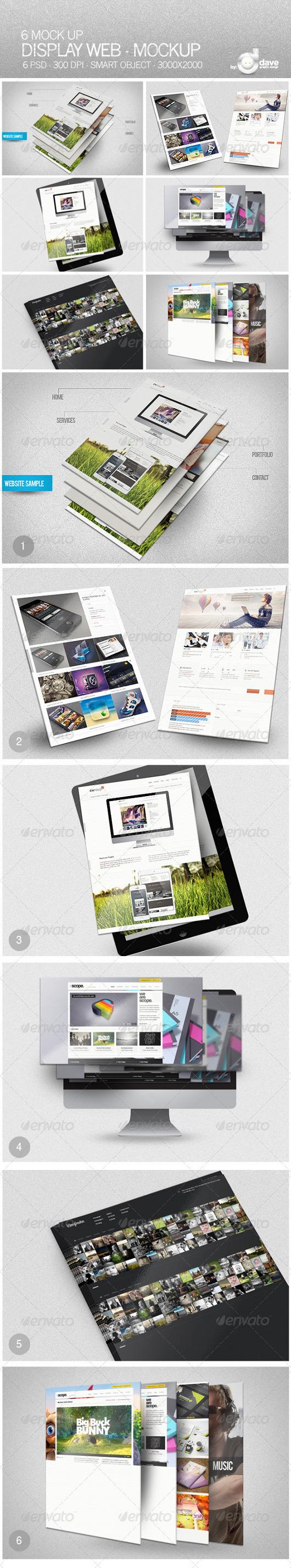 Website Presentation Mockups
