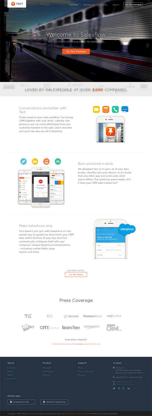 Mobile App Landing Page