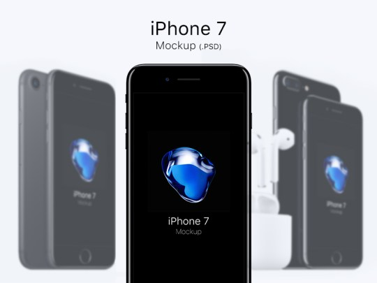iPhone 7 Mockups - PSD by Cédric Pereira