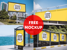 Outdoor Advertising Mockup by MockupZone