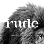 RUDE – Free Font