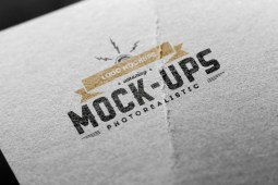 Free Logo Mockup Paper Edition by PuneDesign