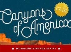 Canyons Vintage Script by Pavel Korzhenko