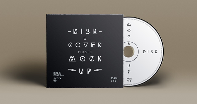 CD Cover Disk PSD Mockup