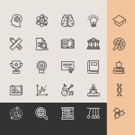 Education Icons – Line Icon Set