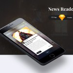 News Reader iOS App Template (.Sketch)
