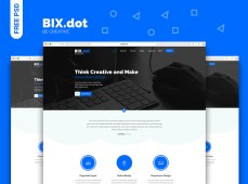 Bix.dot Home Page Template by Muslim Mahin