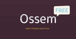 Ossem Free Typeface by Kiril Semkov