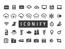 Free 650+ Iconify Icons for Web and Apps by Scott Lewis