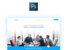 Cobrainer Landing Page PSD Template by Jean Massad