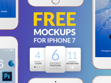 Free iPhones 7 Mockups by EasyEdit.pro
