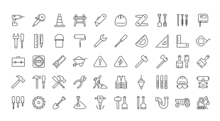 Free Construction Icons by PixelLove