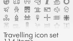 Travelling Icon Set – Free Download
