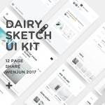 Dairy UI Kit (Sketch)
