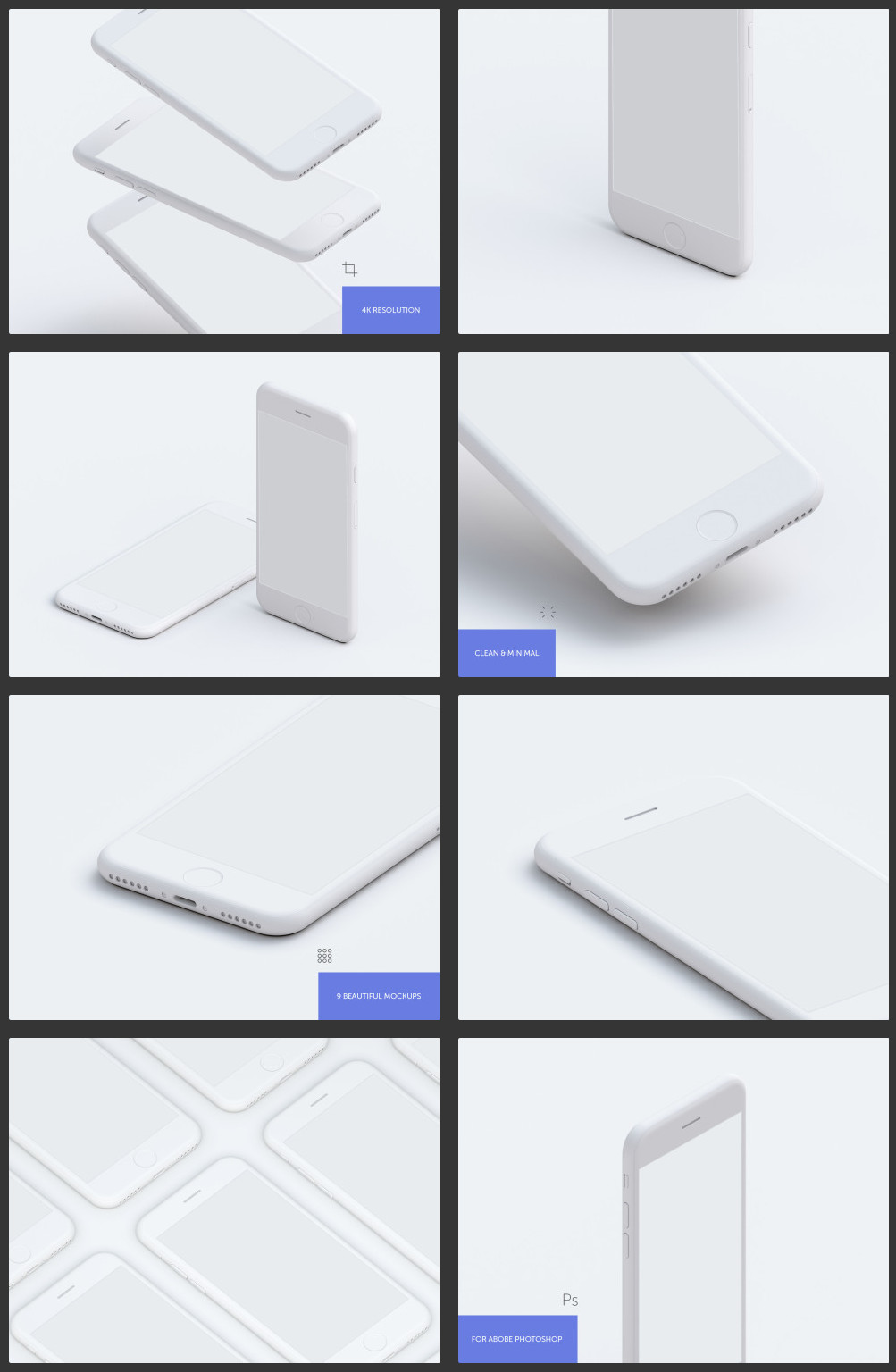 9 Hi-Res and Simple Mockups – OmahPSD