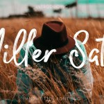 Miller Salt – Handwritten Font DUO