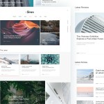 The Siren: Free Blog/Magazine Template (Sketch)